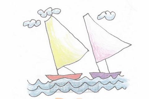 帆船简笔画大图