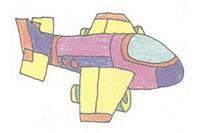 飞船简笔画画法教程