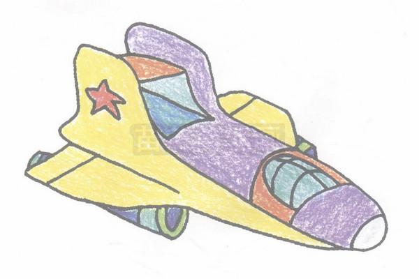 飞船简笔画图片步骤四