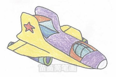 飞船简笔画大图