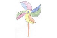 风车简笔画简单画法