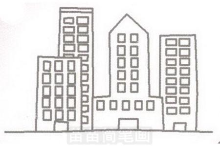 简笔画 风景简笔画 建筑物简笔画 >> 正文内容   高楼简笔画分步骤