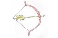 弓箭简笔画简单画法
