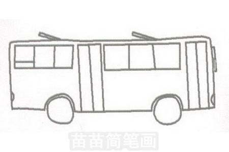 公共汽车简笔画简单画法