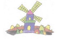 荷兰风车简笔画简单画法