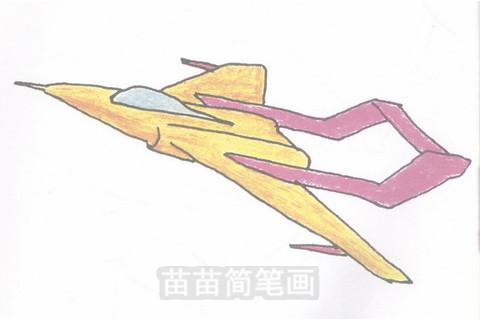 歼击机简笔画大图