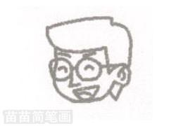 教师简笔画图片步骤一