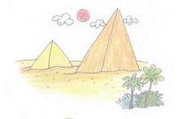 金字塔简笔画简单画法