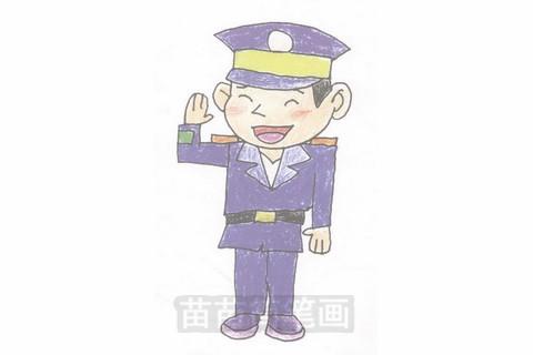 警察简笔画大图