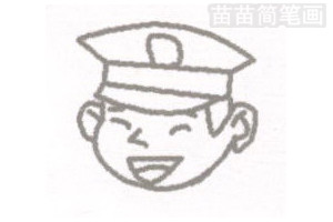 警察简笔画图片步骤一