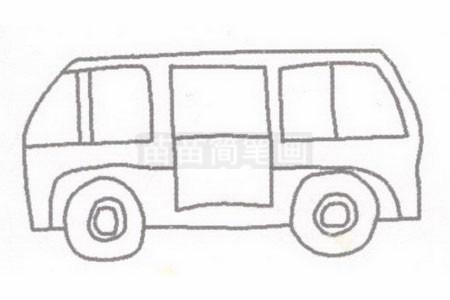 救护车简笔画简单画法