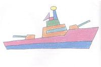 军舰简笔画简单画法