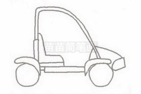卡丁车简笔画简单画法