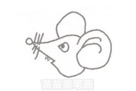 老鼠简笔画简单画法