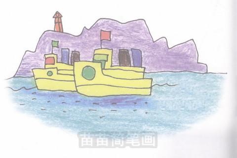轮船简笔画大图