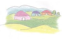 蒙古包简笔画简单画法