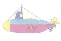潜水艇简笔画简单画法