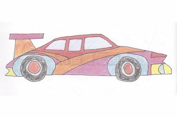 赛车简笔画简单画法