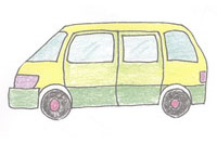 商务车简笔画简单画法