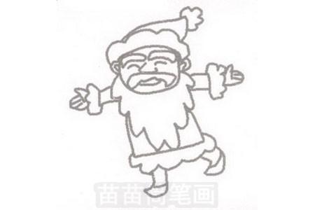 圣诞老人简笔画图片步骤三