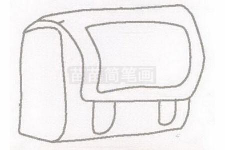 书包简笔画图片步骤二