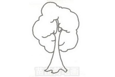 小树简笔画图片步骤三