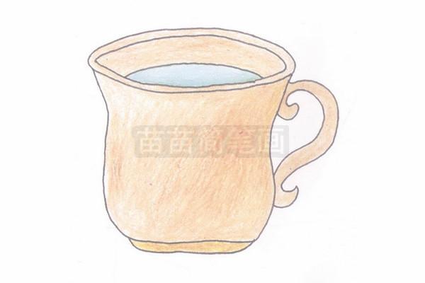 水杯简笔画图片步骤四