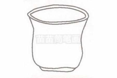 水杯简笔画简单画法