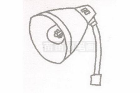 台灯简笔画图片步骤二