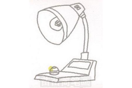 台灯简笔画图片步骤三