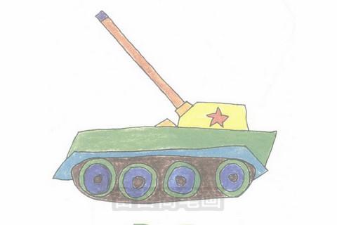 坦克简笔画大图