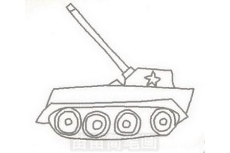 坦克简笔画图片步骤三