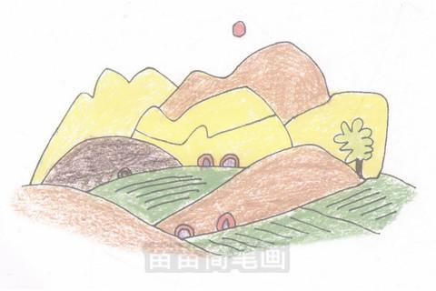 田野简笔画大图