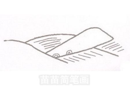 田野简笔画图片步骤一