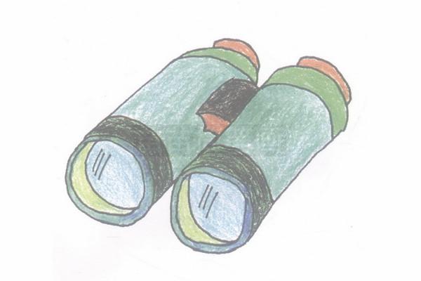 望远镜简笔画图片步骤四