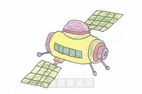 卫星简笔画大图
