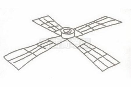 通信卫星简笔画分步骤画法