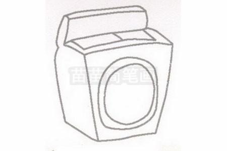 洗衣机简笔画图片步骤二