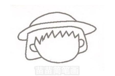 步骤一:短头发,碎留海,带着小圆帽.