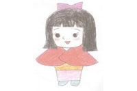 《聪明的一休》女主角小叶子简笔画简单画法