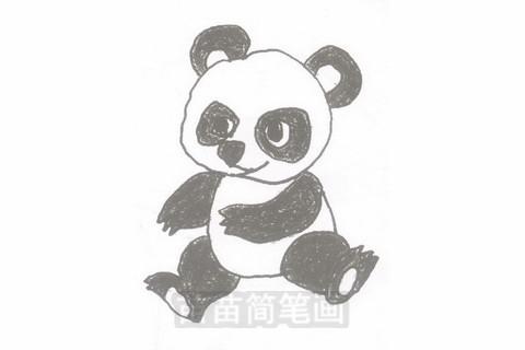 熊猫简笔画简单画法图片