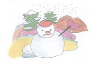 雪人简笔画简单画法