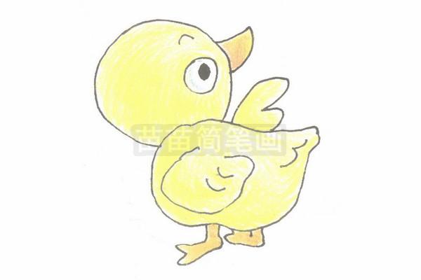 鸭子简笔画简单画法