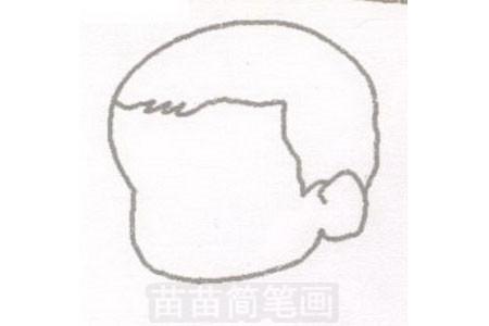 婴儿简笔画图片步骤一