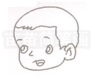 婴儿简笔画图片步骤二