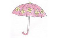 雨伞简笔画简单画法