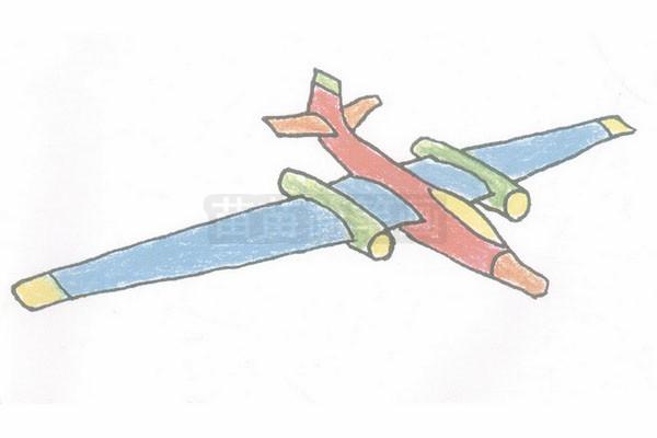 侦察机简笔画图片步骤四