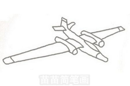 侦察机简笔画图片步骤三