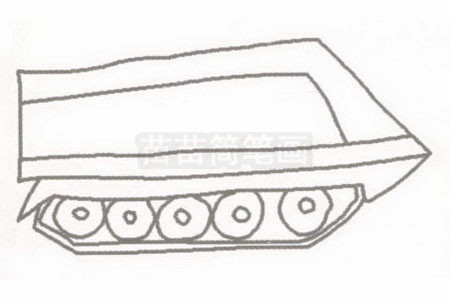 装甲车简笔画图片步骤二