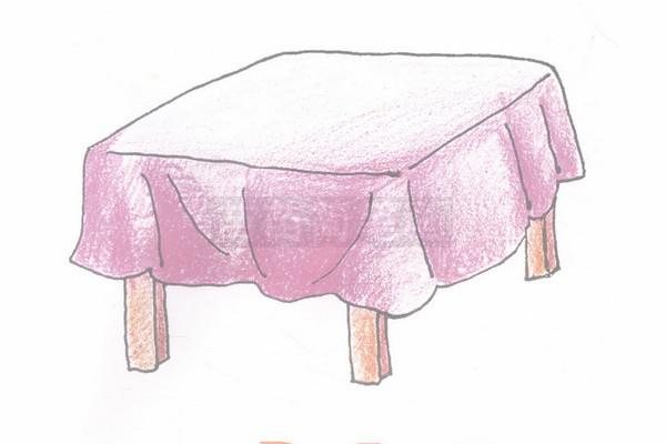 桌子简笔画图片步骤四